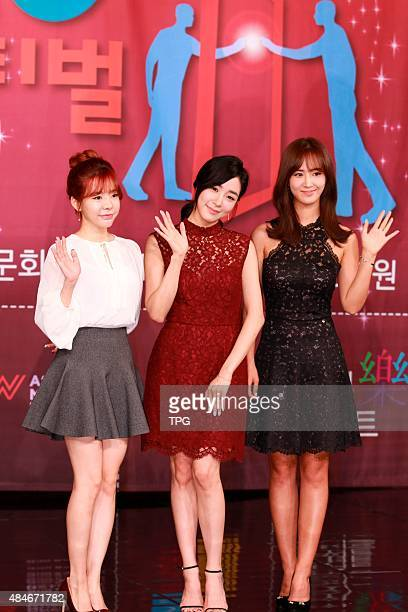 Girl's Generation Tiffany, Yuri and Sunny attends the DMC Festival conference on 20th August, 2015 in Seoul, South Korea.