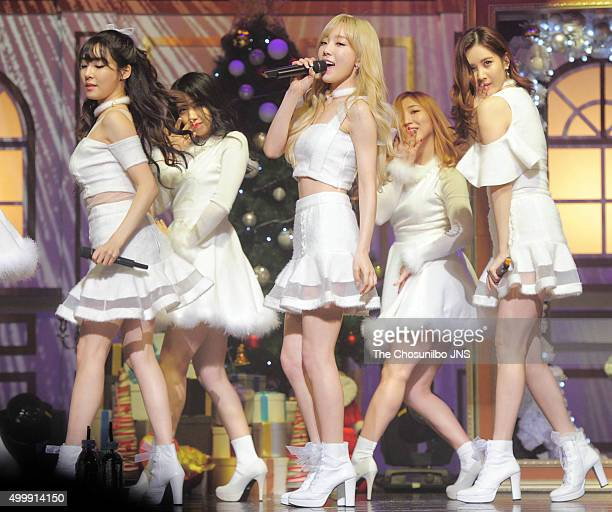 Girls' GenerationTTS perform onstage during their special album 'Dear Santa' showcase at COEX on December 3 2015 in Seoul South Korea