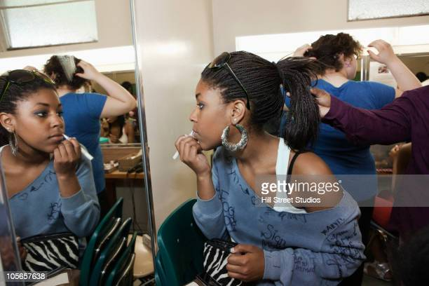 Girls getting ready backstage