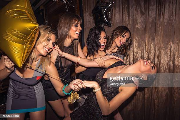 Girls go crazy at party