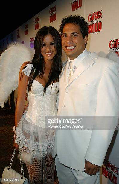 Girls Gone Wild's Joe Francis and Erin Naas during Girls Gone Wild Elegant Sin Halloween Party Inside at Private Residence in Los Angeles California...