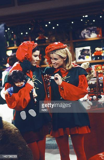 JENNY 'A Girl's Gotta Deck the Halls' Episode 7 Pictured Heather Paige Kent as Maggie Marino Jenny McCarthy as Jenny McMillan Photo by Alice S...