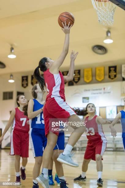 Girls high school basketball game