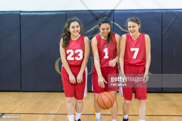 Girls high school basketball team