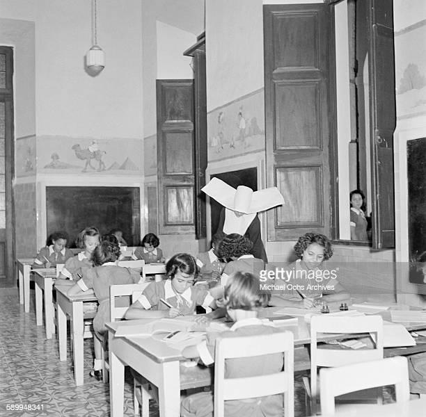 Girls in a Catholic School study in Jamaica