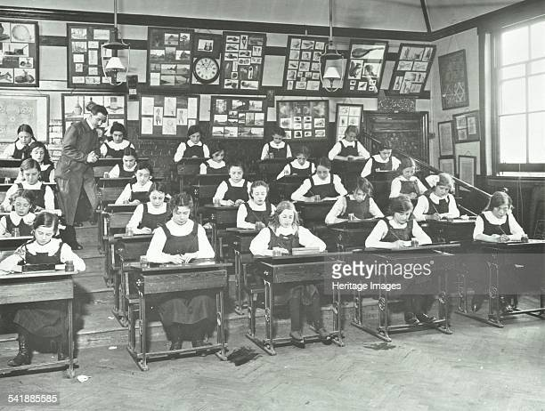 Girls in an art class Tollington Park Central School London 1915 Artist unknown