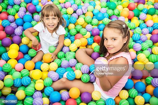 Girls in ball pool