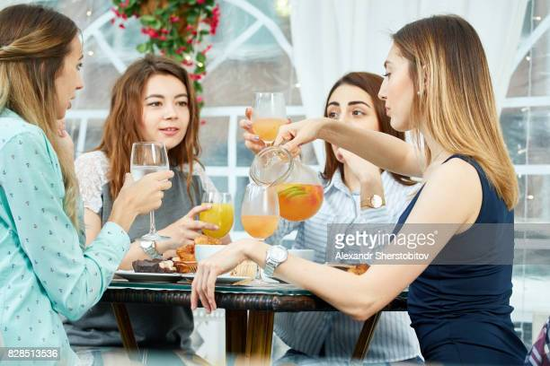 Girls in cafe