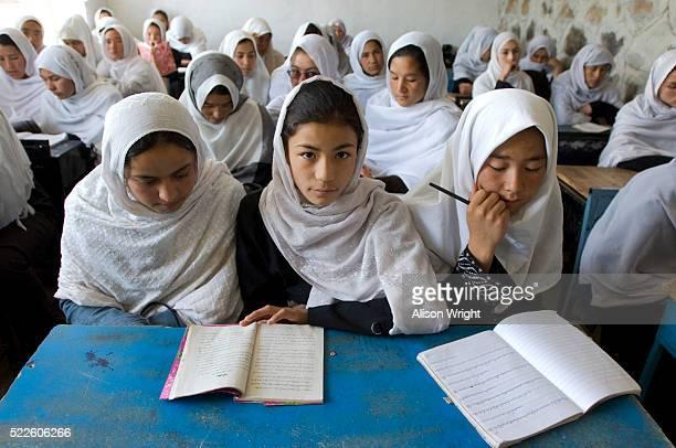Girls in Class at Markaz Girls High School