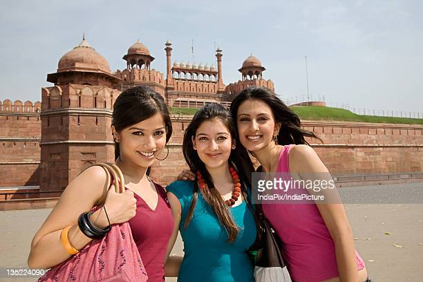 Girls in front of the Red Fort