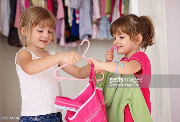 Girls in wardrobe