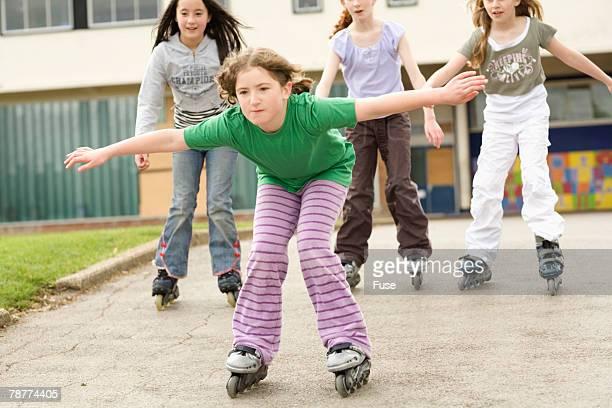 Girls Inline Skating