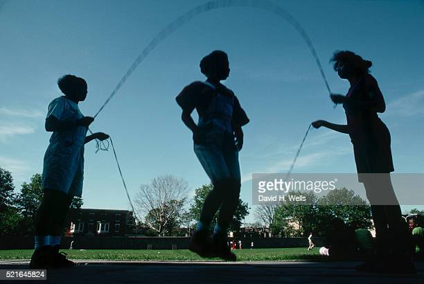 girls jumping rope - girard college stock pictures, royalty-free photos & images