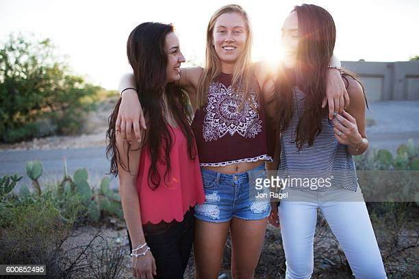 Girls laughing and smiling