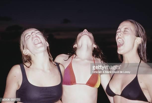 Girls Laughing on Beach