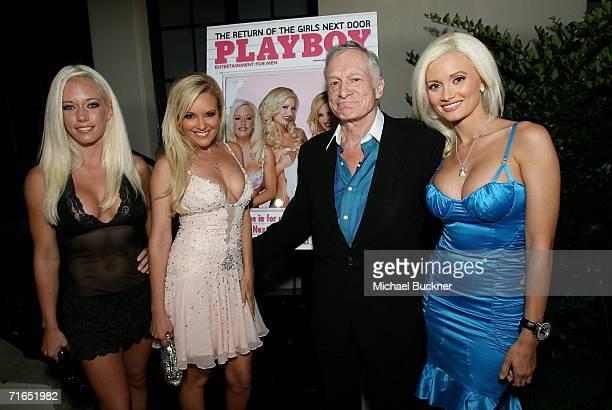 Girls Next Door Kendra Wilkinson Bridget Marquardt Playboy publisher Hugh Hefner and Girl Next Door Holly Madison attend Playboy and Stoli's...
