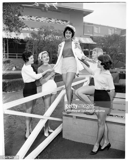 Girls of the Golden West 9 March 1960 Sharon GirotJanet WorthingtonJudi AndersonRose Ann LongoPreston JenuineLorraine Inco Caption slip reads...