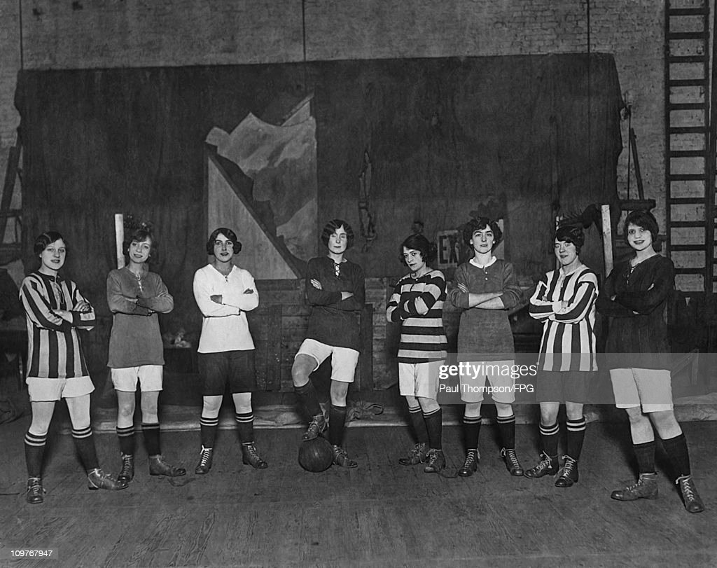 Oxford Revue Girls To Play Football Match : News Photo