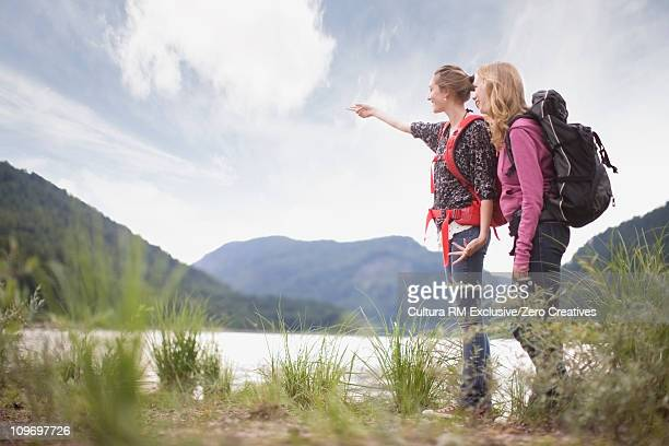 Girls on a mountain trip