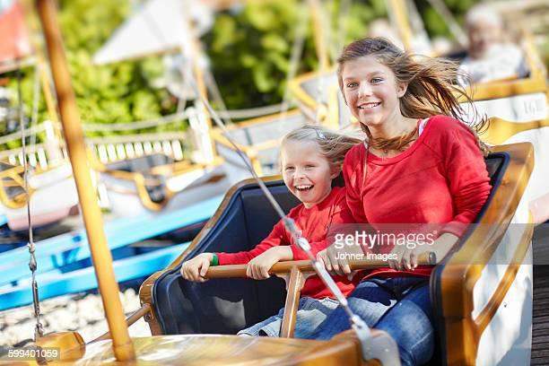 Girls on fairground