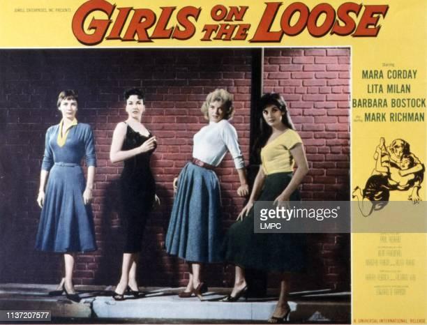 Girls On The Loose poster Barbara Bostock Mara Corday Joyce Barker Lita Milan 1958