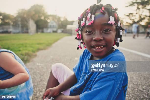Girls on the playground.