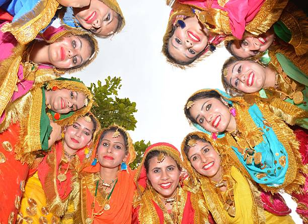 Girls perform `Giddha` during the fourday interdepartmental cultural event Jashan 2015 at Guru Nanak Dev University onMarch 15 2015 in Amritsar India.