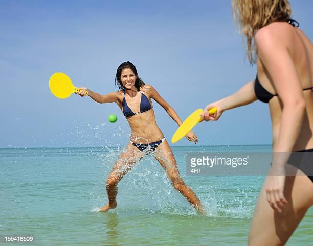 Girls playing Beach Ball (XXXL)
