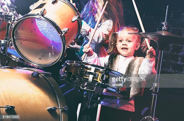 Girls playing drums