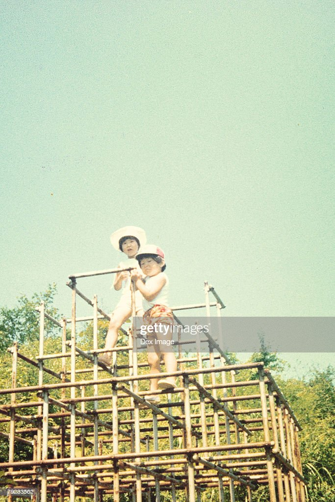Girls playing in a playground : Stock Photo