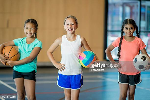 Girls Playing Sports