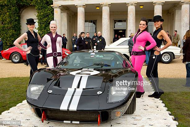 Girls posing with 1966 Ford GT40 Mk 2