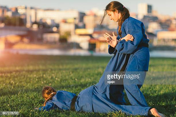 Girls Practicing Aikido
