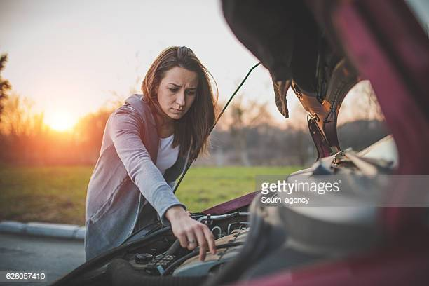 Girls problems with car