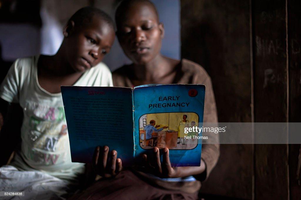 Adolescent Girls at Community Center in Uganda : News Photo