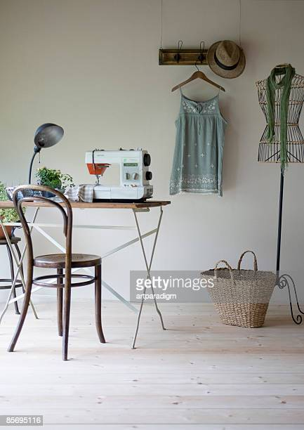 a girl's room - sewing machine stock pictures, royalty-free photos & images