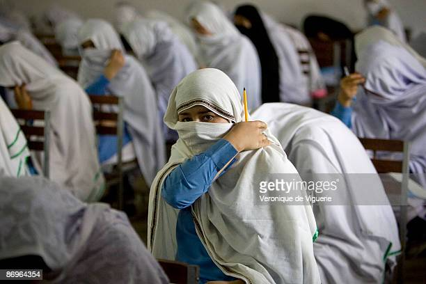 A girls school which has received many threats from the Taliban pictured on March 31 2009 in Mardan NorthWest Frontier Province Pakistan
