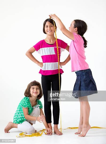 Girls sewing class