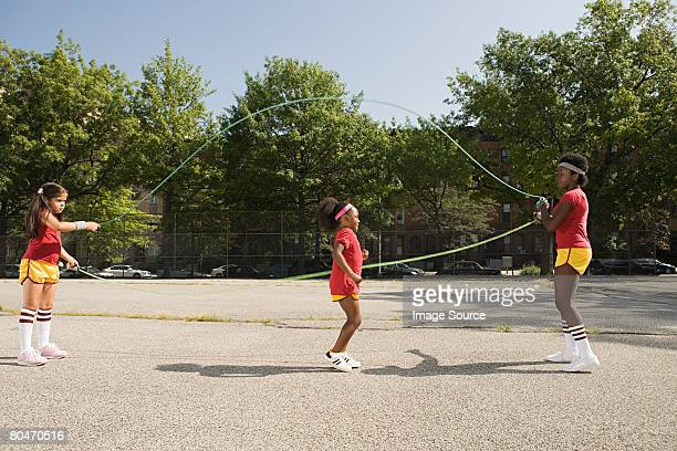 girls skipping - skipping along stock pictures, royalty-free photos & images