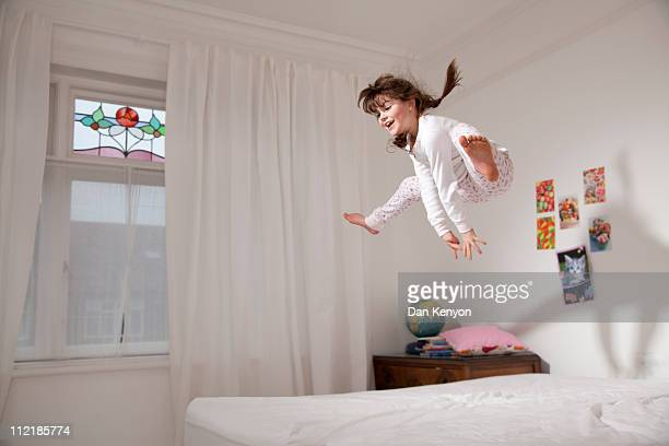 girls sleepover and crafts - jumping stock pictures, royalty-free photos & images