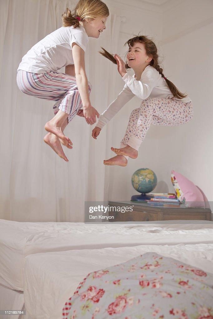 girls sleepover and crafts : Stock Photo