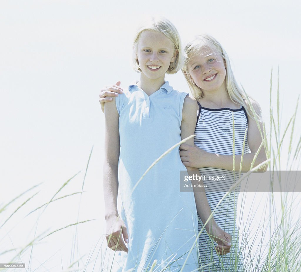 Girls standing : Stock Photo