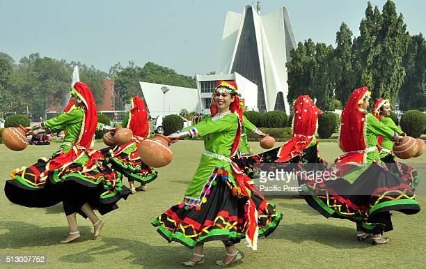 Girls students perform Punjabi folk dance Sammi during the Punjabi University Folk Festival at Punjabi University Sammi Dance is a folk dance of the...