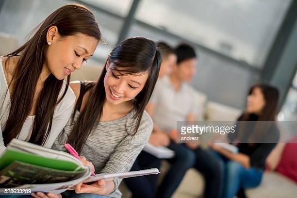 女の子一緒の勉強