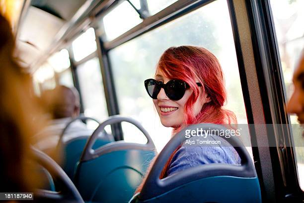 girls together on a bus on a sunny day - positive emotion stock pictures, royalty-free photos & images