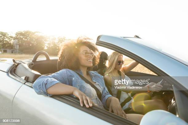 Girls traveling with car