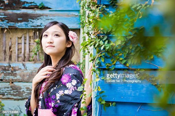 Girls wearing yukata.