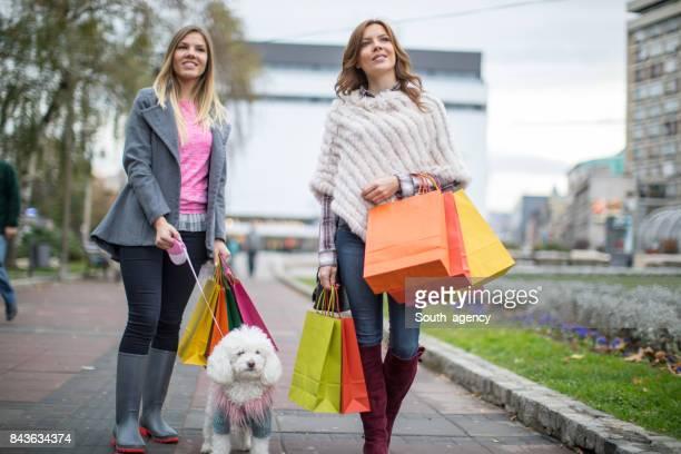Girls were in shopping
