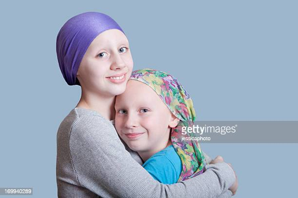 Girls with Cancer Hug Close Up