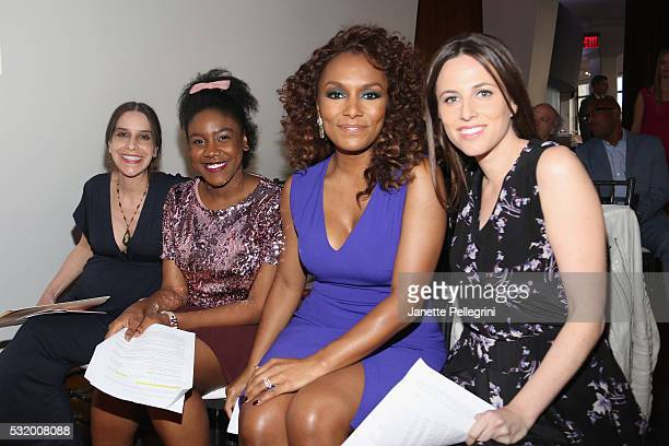 Girl's Write Now Founder and Executive Director Maya Nussbaum Coemcee and mentee KirbyEstar Laguerre Trailblazer Honoree and Author Janet Mock and...